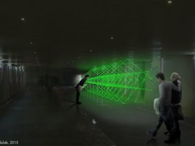 Noaptea Alba a Bucurestiului_Laser grid